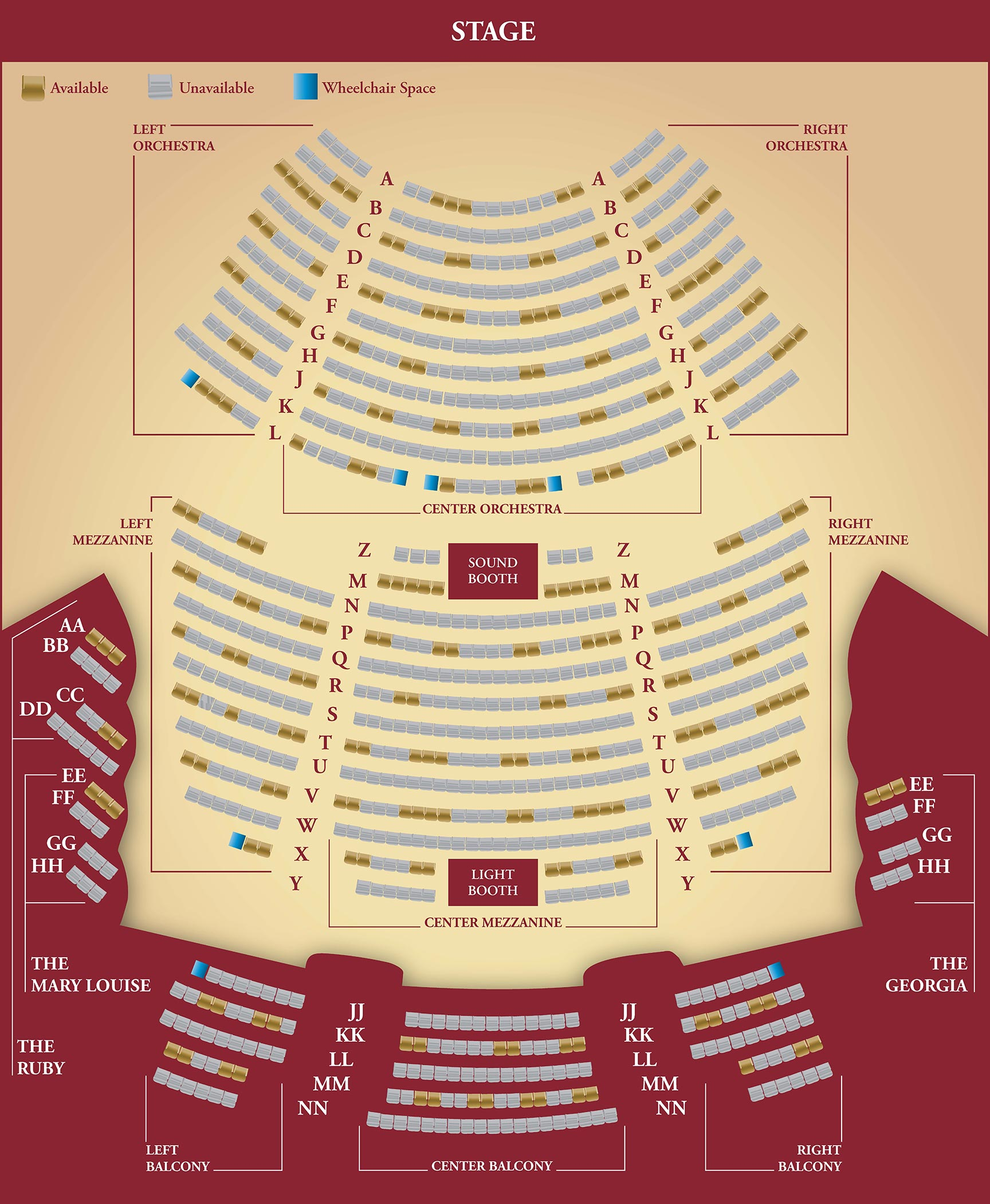 Reopening Seating Chart